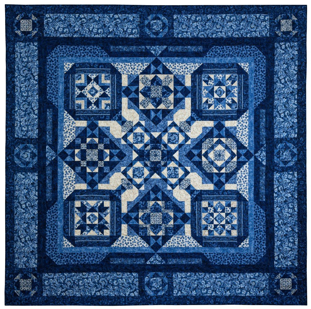 London Blues Quilt Kit with Pattern - 104 x 104