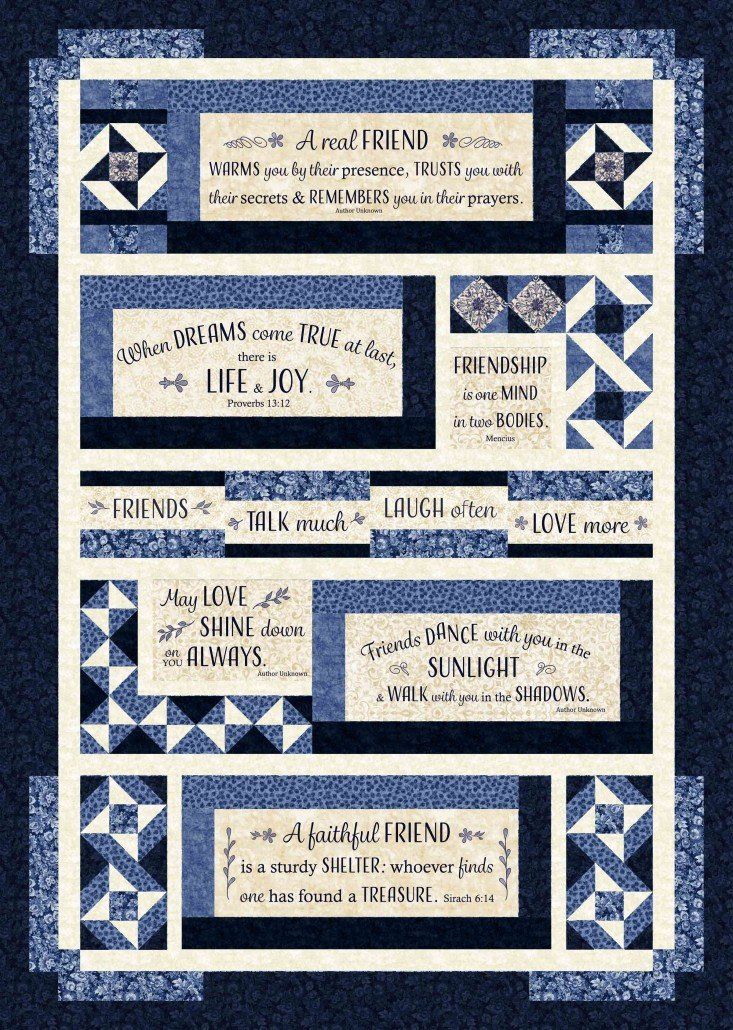 Life & Joy Kit - London Blues Panel Quilt