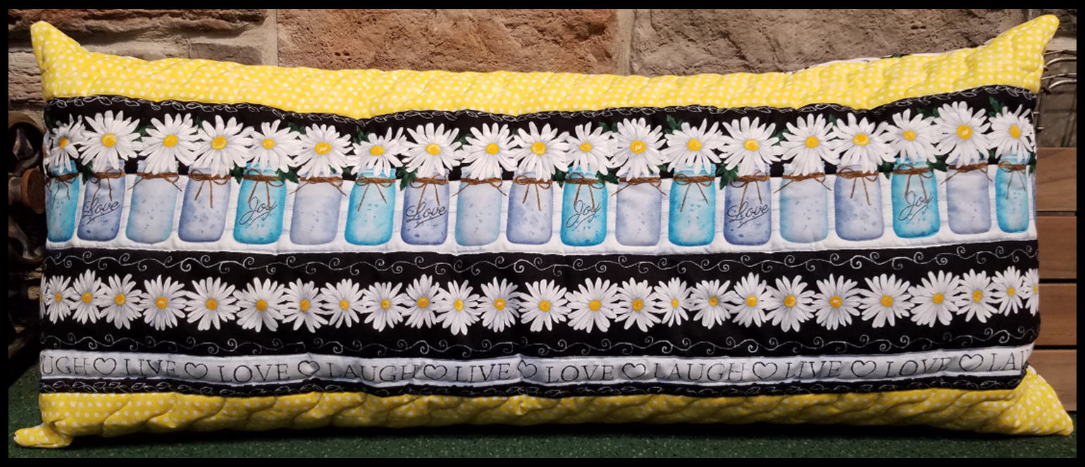 Bench Pillow Kit - Live Laugh Love Daisies