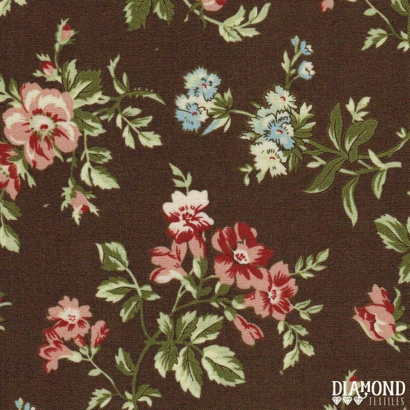 A Common Thread - Main Floral - Brown