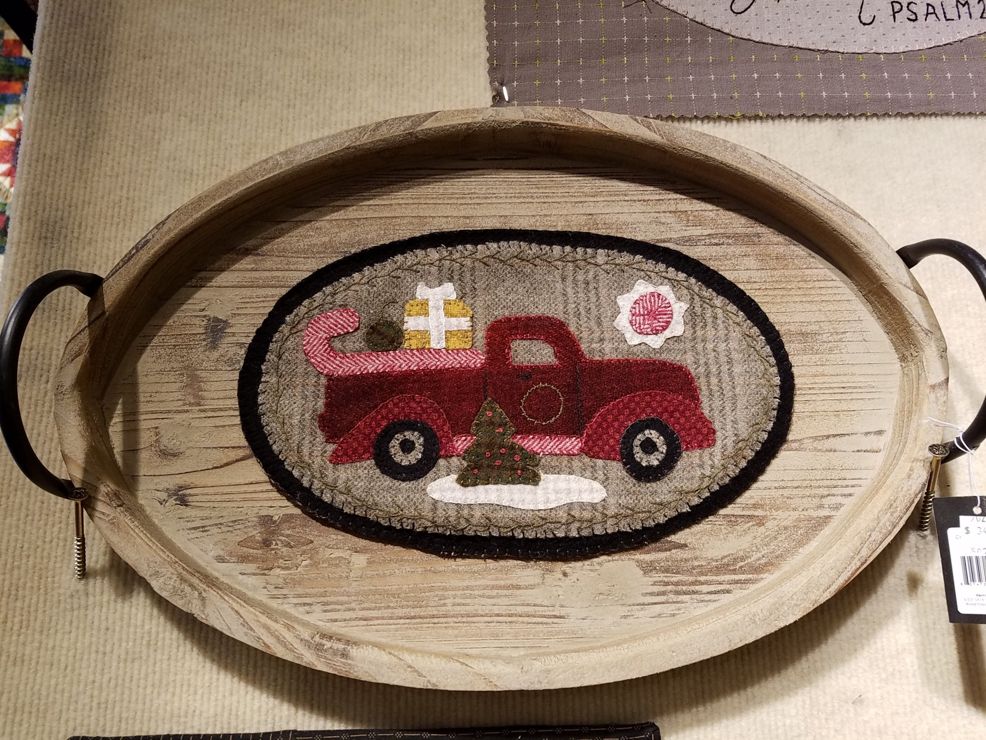 Mini Vintage Truck Thru The Year - December Wool Kit with Pattern: 6.5 X 11