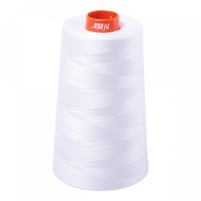Aurifil Long Arm Mako 50wt 6452yd Cone - White
