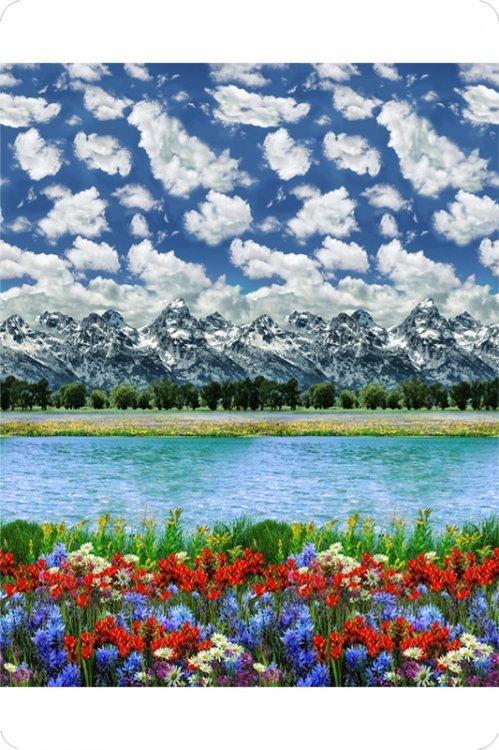 Hoffman Digital Cuddle - Mountain - Blue