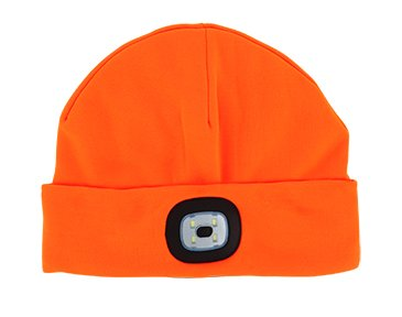 Sportsman Collection Night Scout Rechargable LED Beanie -  Orange