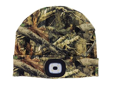 Sportsman Collection Night Scout Rechargable LED Beanie -  Camo