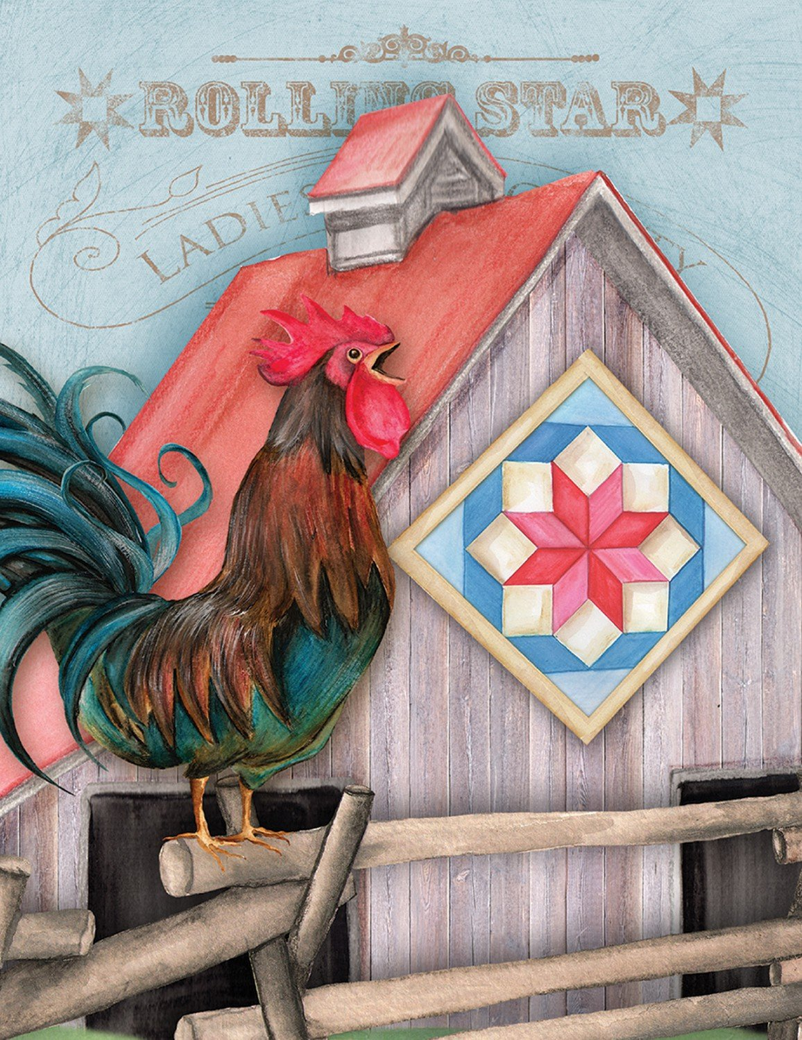 Note Cards - Quilt Chicken Coup Package of 8