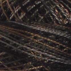Valdani 12wt Pearl Cotton Variegated - Aged Black