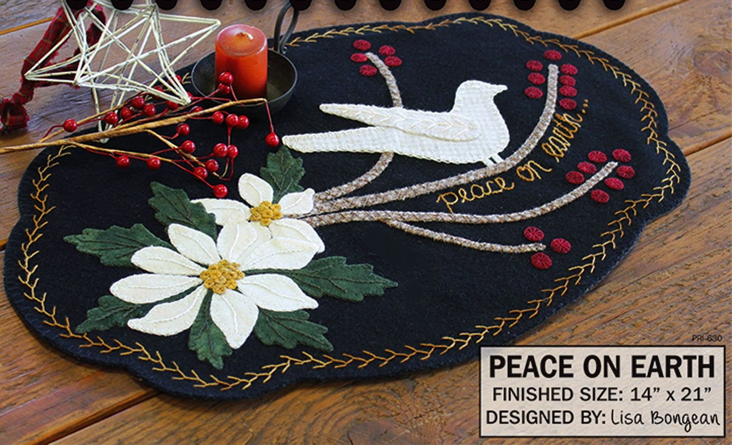 Peace on Earth Wool Pattern