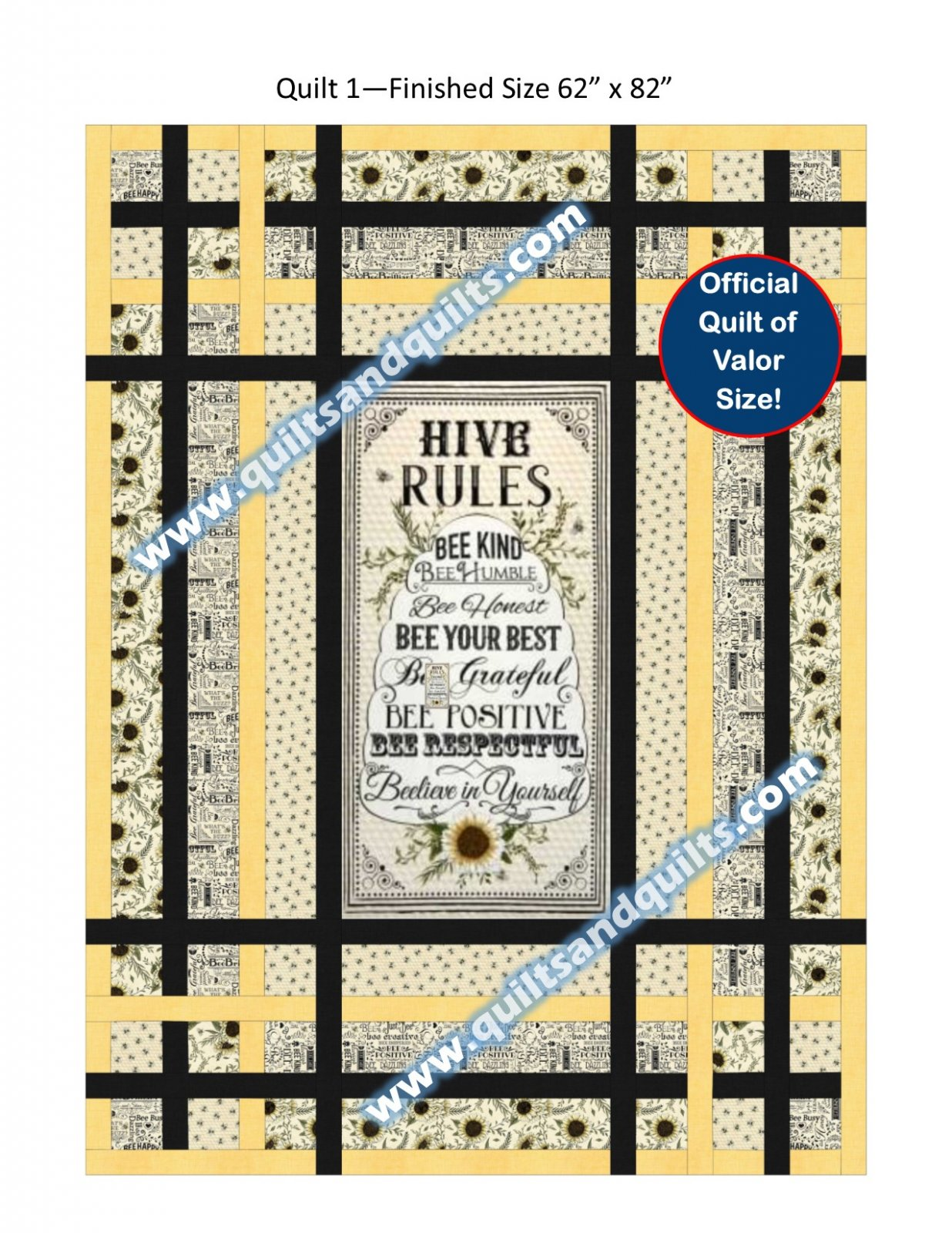 Plaid and a Panel Hive Rules Kit 62 x 82
