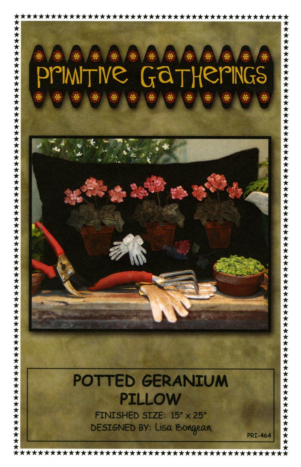 Potted Geranium Pillow Pattern