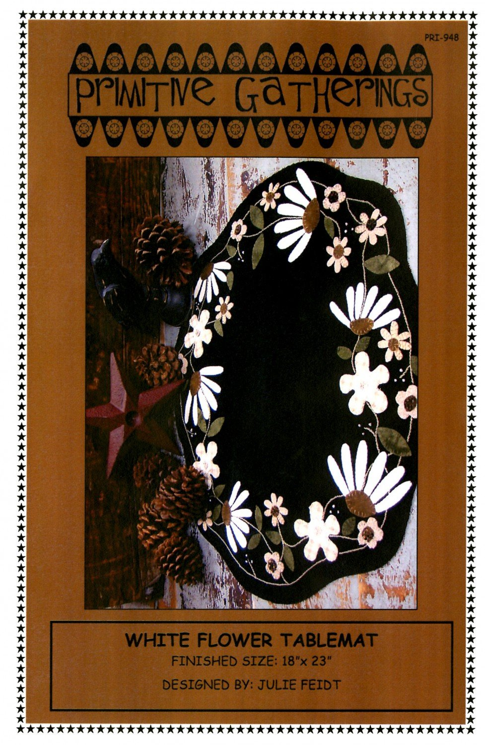 White Flower Table Mat Pattern