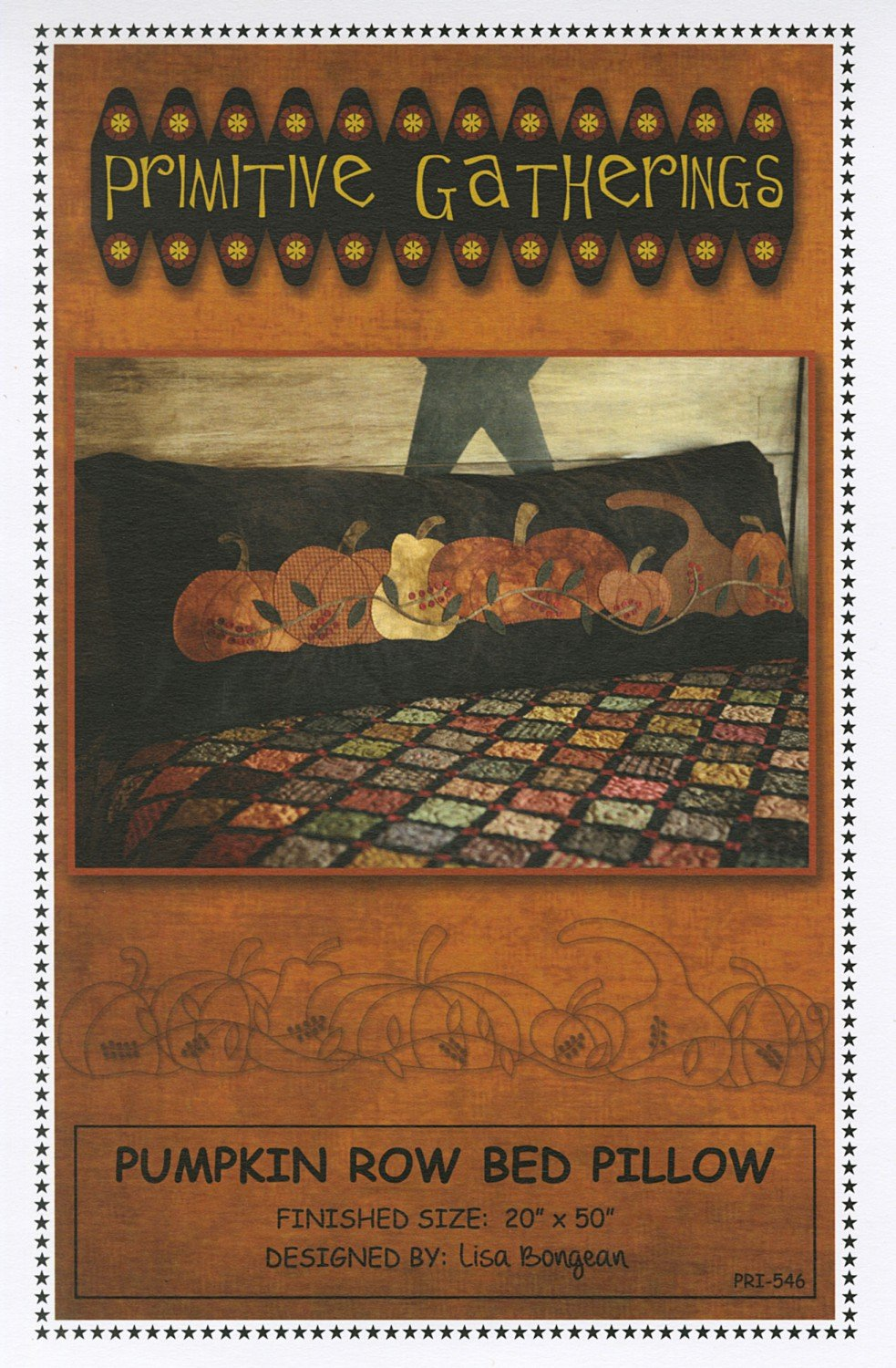 Pumpkin Row Bed Pillow Pattern
