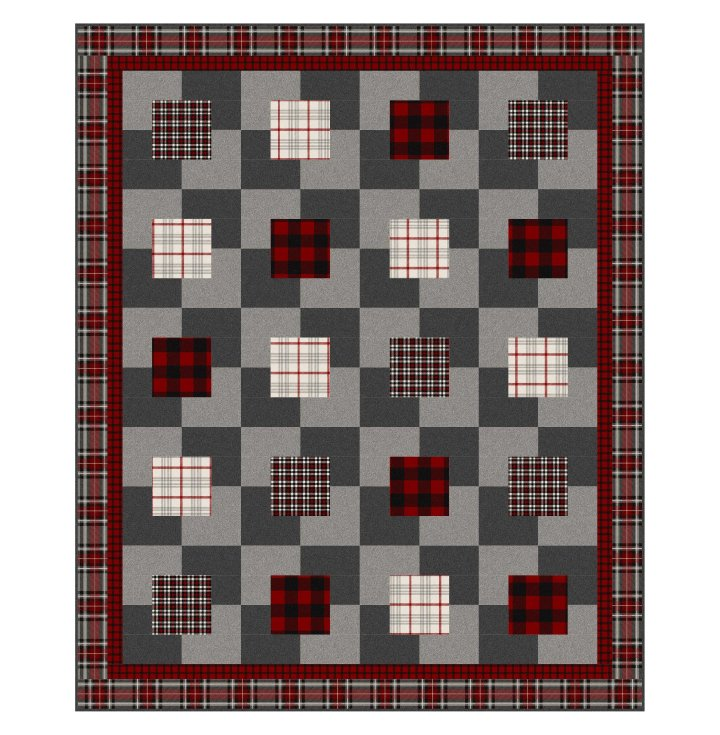 Crackers and Cheese Flannel Kit with West Creek Wovens