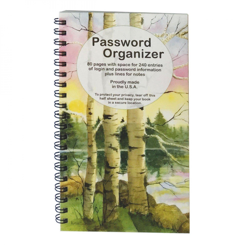 Password Organizer Book - Birches
