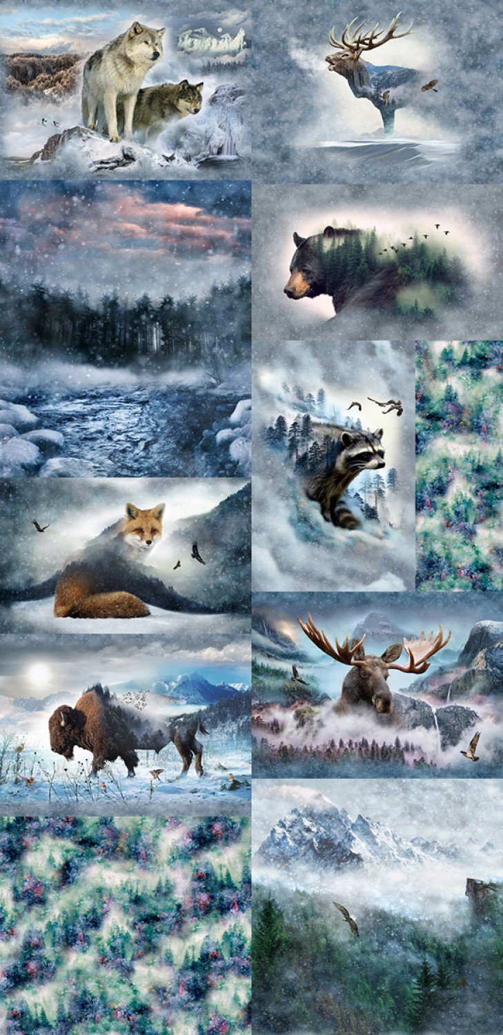 Call of the Wild - Wild Aminals 90 x 43 Digital Panel