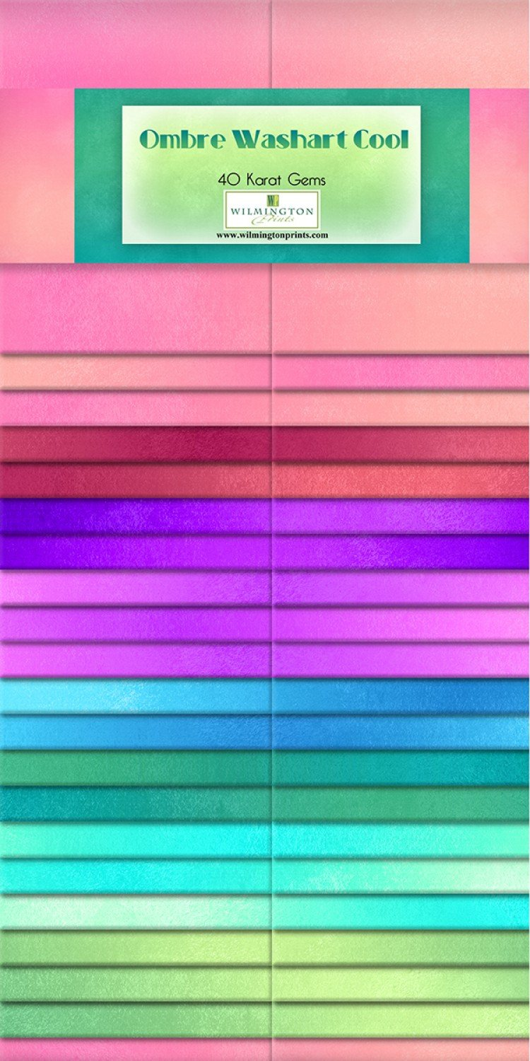 2-1/2in Strips Ombre Washart Cool 40pcs