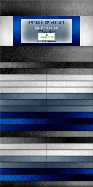 2-1/2in Strips Ombre Washart Blue Steel 40pcs