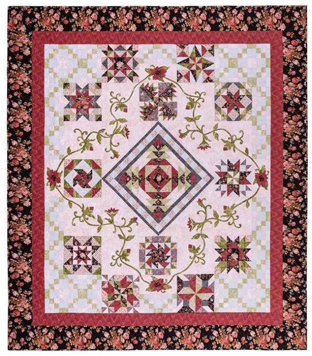 The Queen and Her Court II Quilt Kit plus Pattern 96 x 108