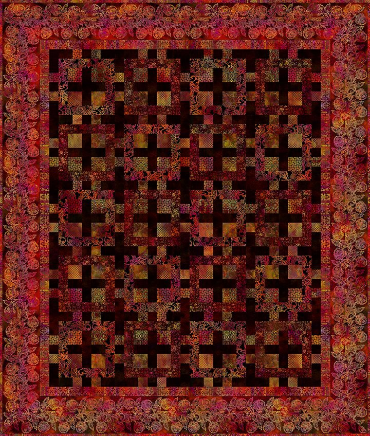Tapestry Quilt Kit 79in by 93in - Exotic Spice