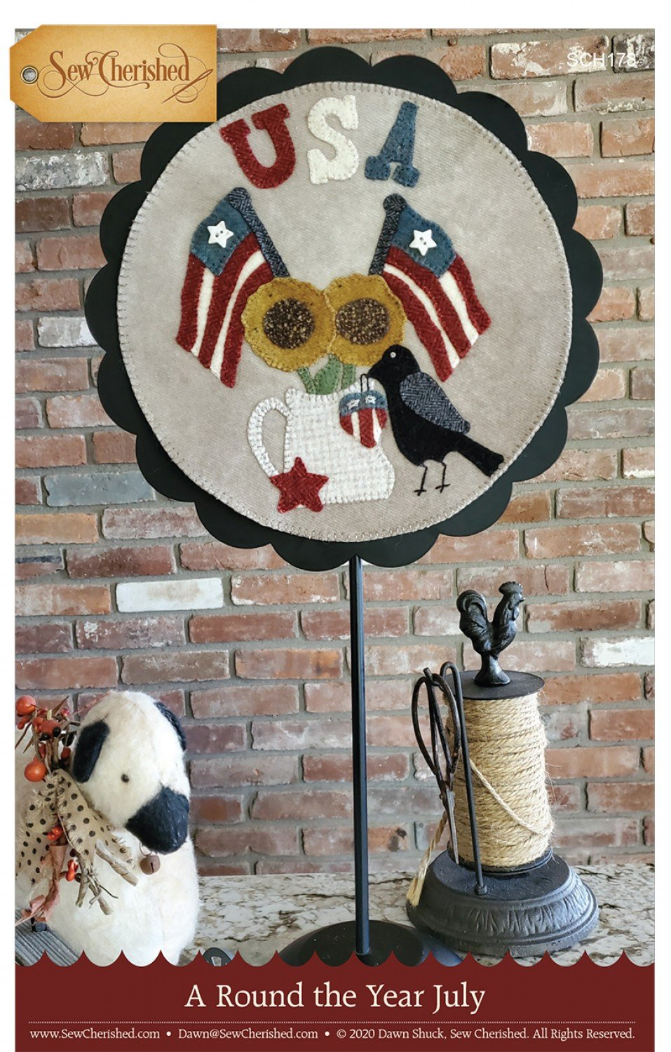 A Round the Year Wool Applique - July
