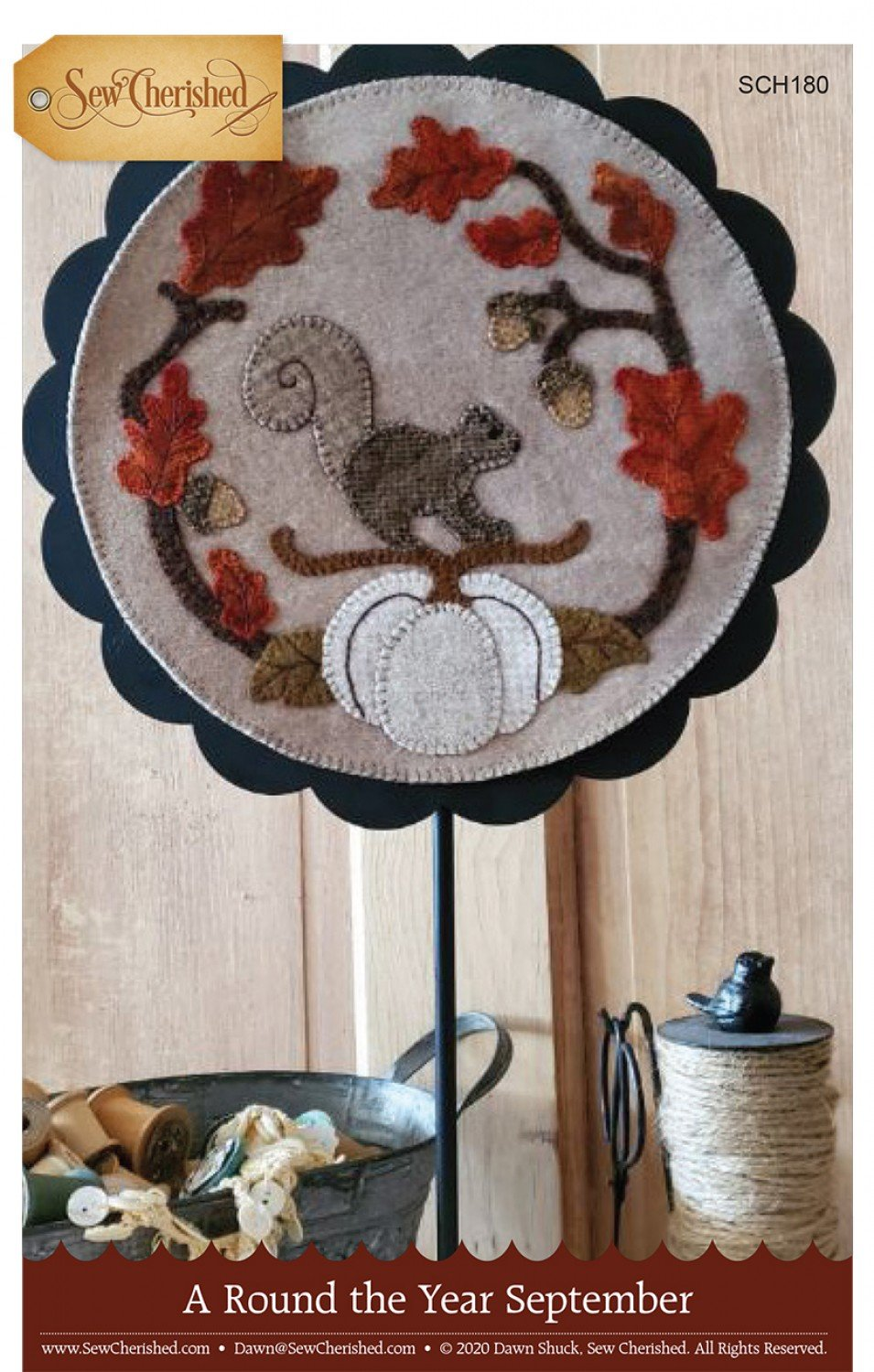 A Round the Year Wool Applique - September