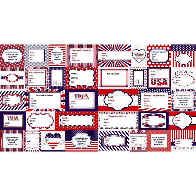 Red, White & Starry Blue Label Panel