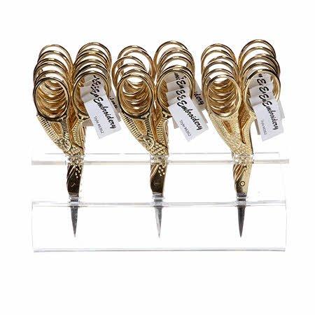 Embroidery Scissor - Gold Stork