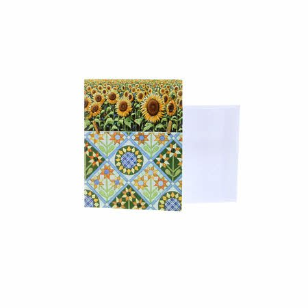 Boxed Note Cards Rebecca Barker Sunflowers with Quilt