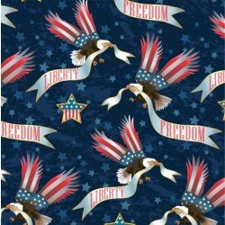 Minky American Dream - Tossed Eagles