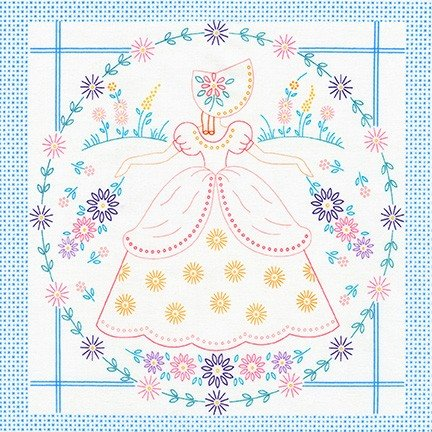 Southern Belles Printed Embroidery Panel