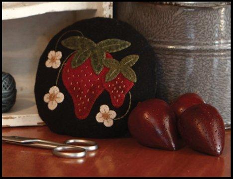 Strawberry Pincushion Wool Kit with Pattern