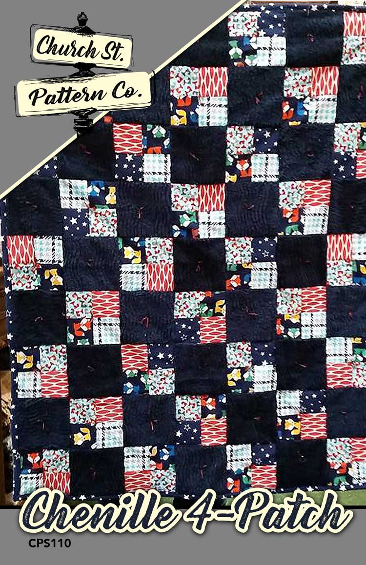 Easy Peasy Chenille 4-Patch Pattern