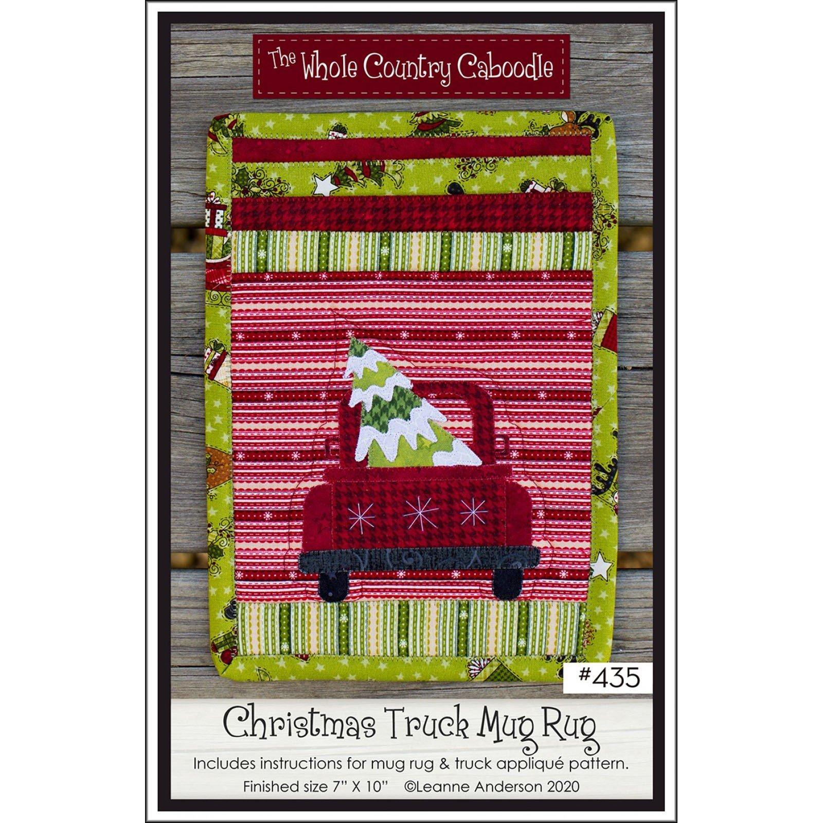 Christmas Truck Mug Rug Pattern