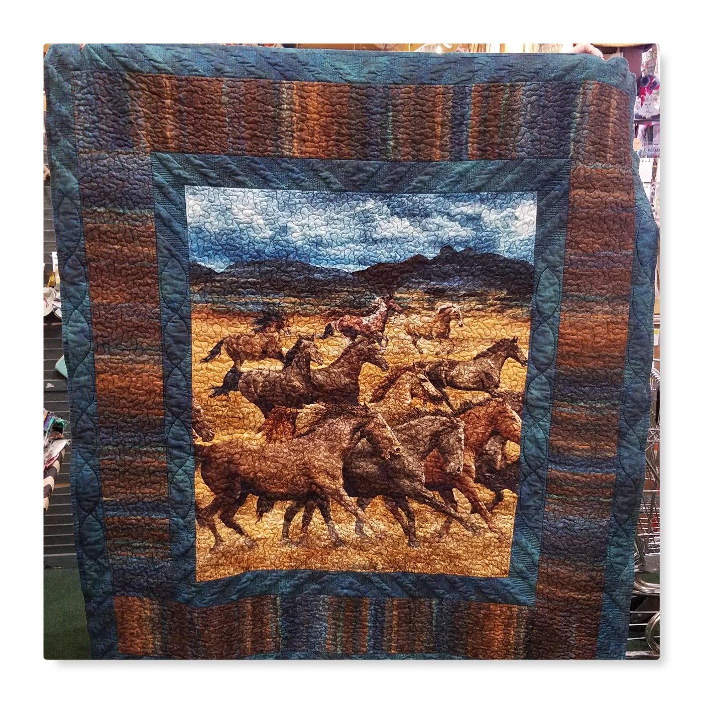 Easy Does It Wild Horses Throw Quilt Kit