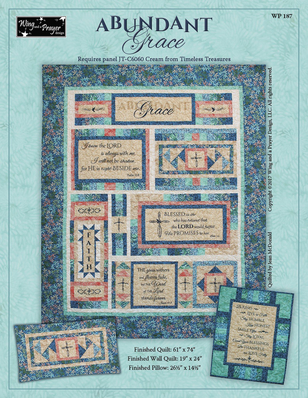 Abundant Grace Quilt Kit 61 x 74 w/ Pattern