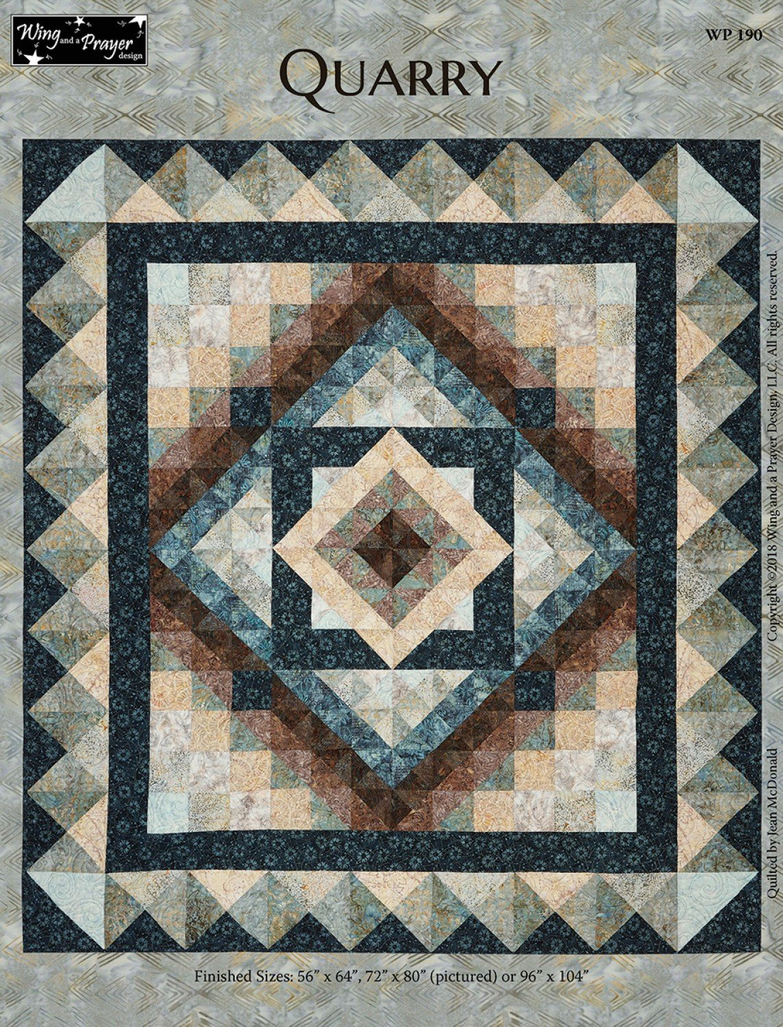 Quarry Throw Quilt Kit 72 x 80 with Pattern