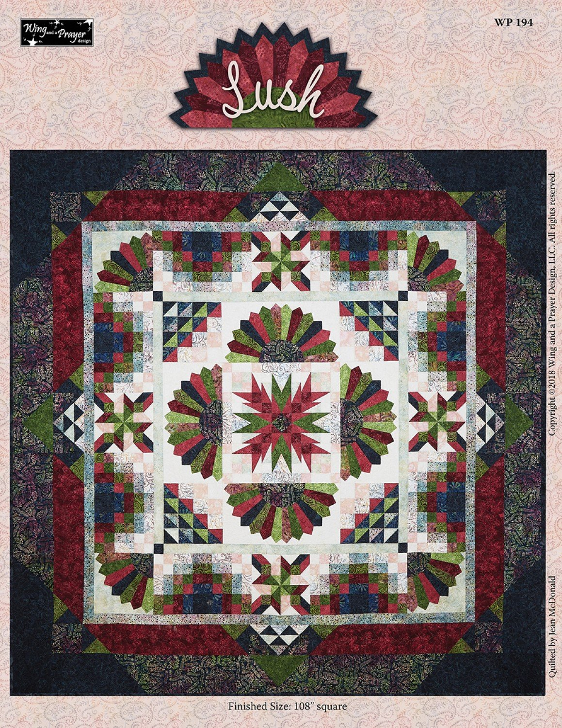 Lush Quilt Kit with Pattern 108 x 108