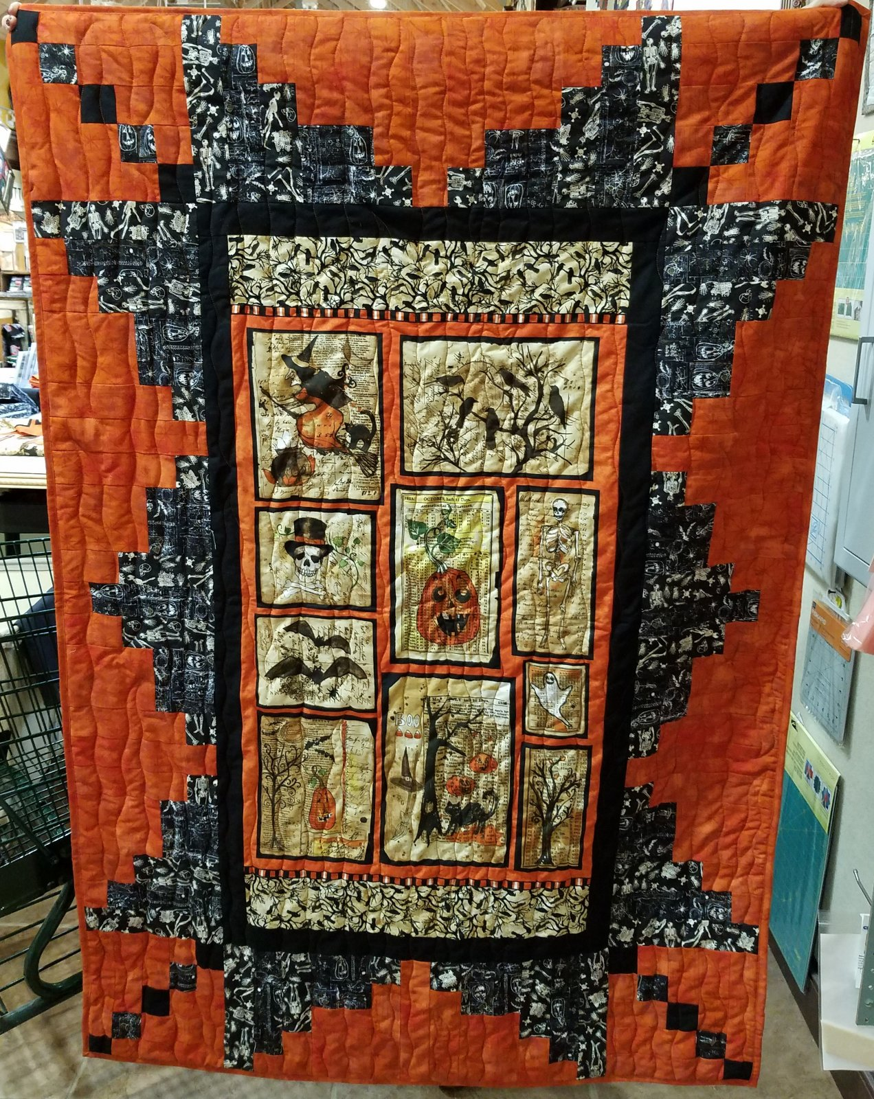 Panel Perfection Halloween Throw Kit 46 x 66 includes pattern