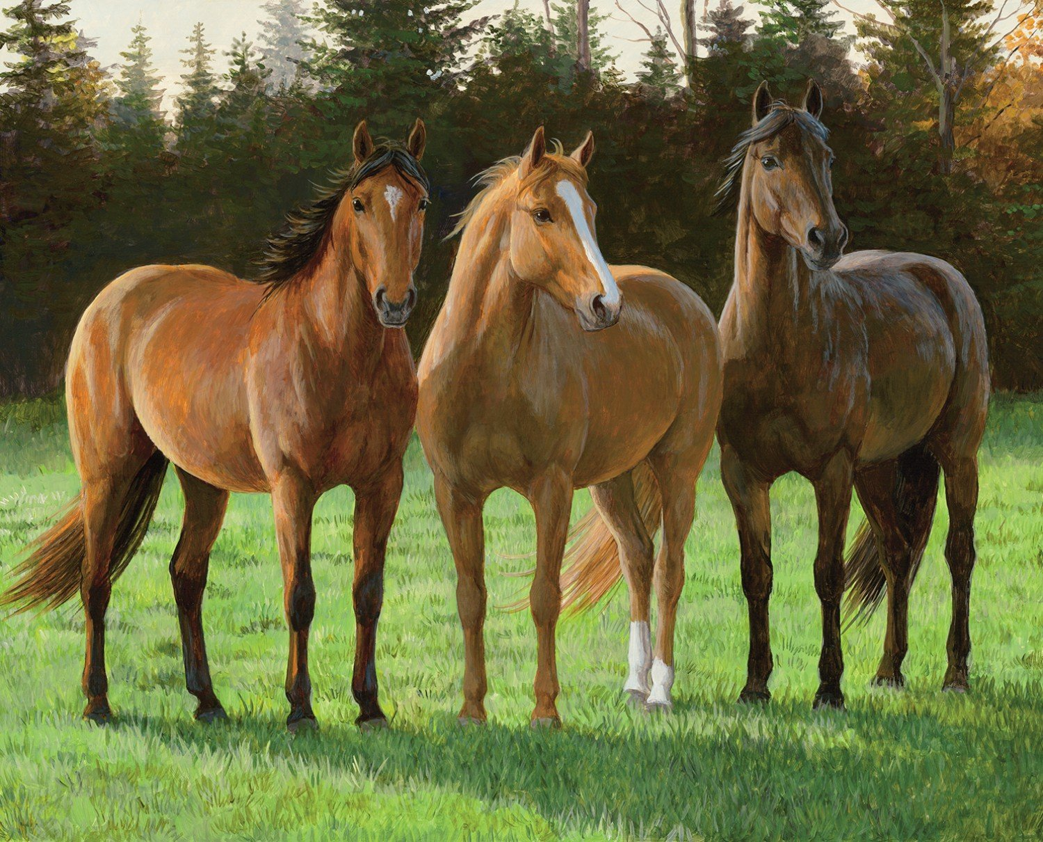 A Sunny Day Digital Horse Panel
