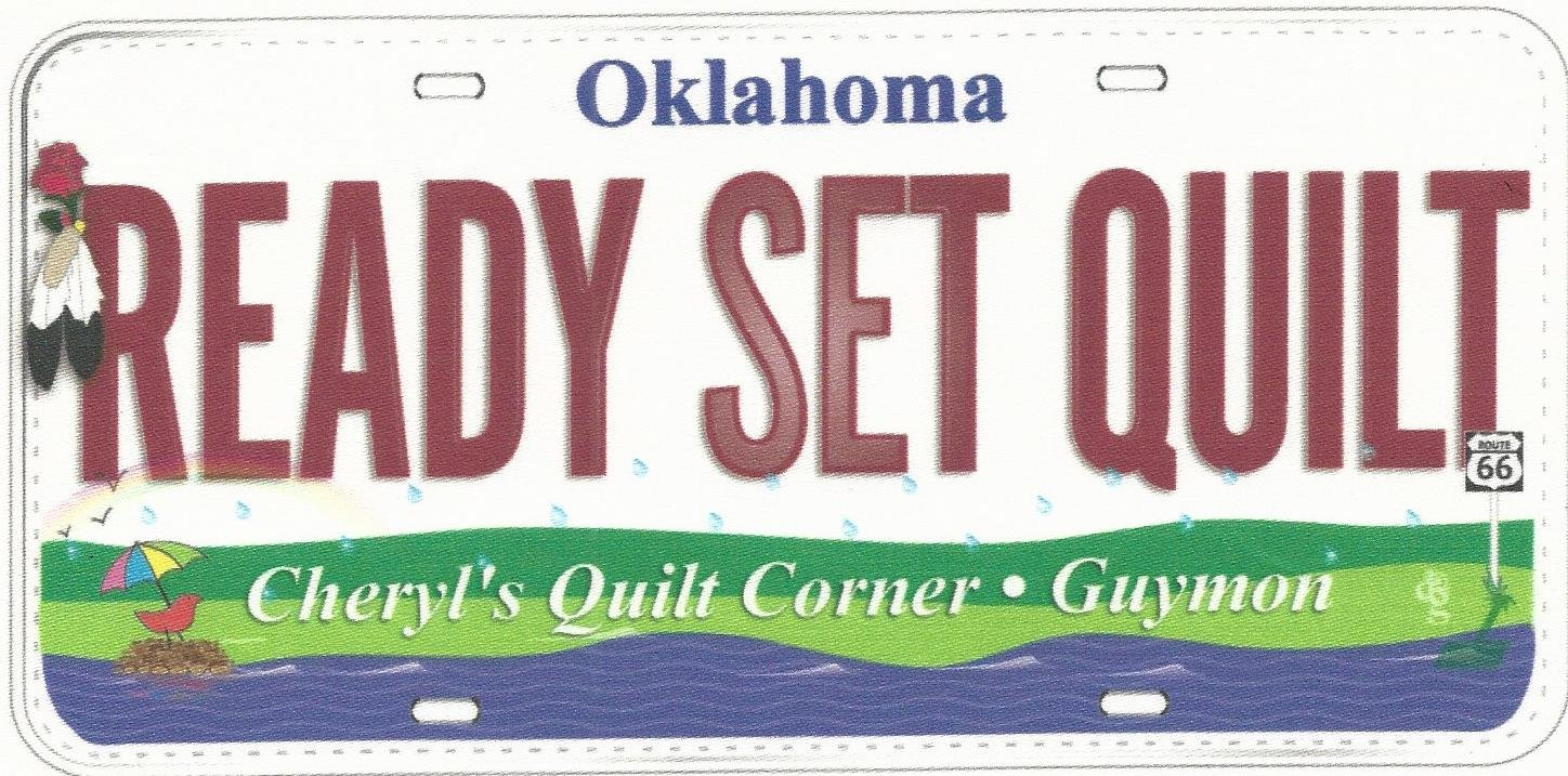 Ready Set Quilt 2015 license plate