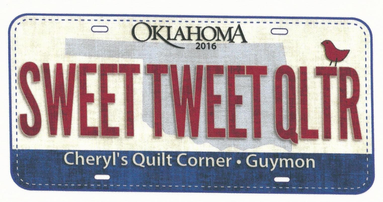 Sweet Tweet Quilter - 2016 license plate