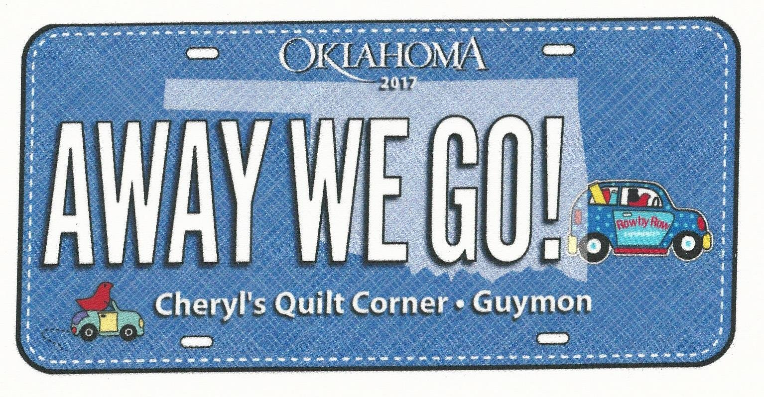 Away We Go! - 2017 License Plate