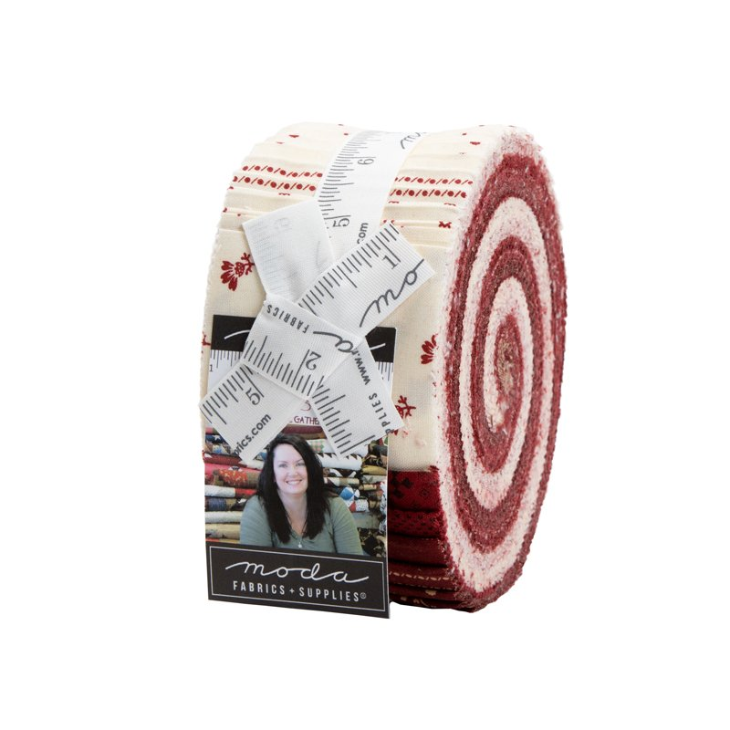 Redwork Gatherings Jelly Roll *