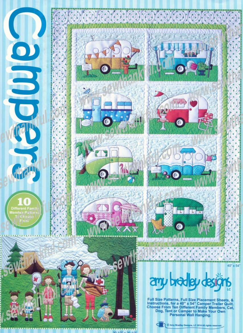 Campers pattern - set of 10