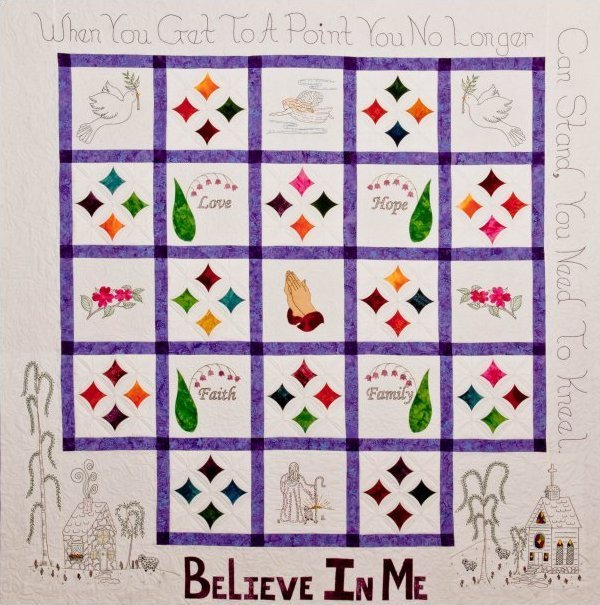Believe in me - Inspirational pattern