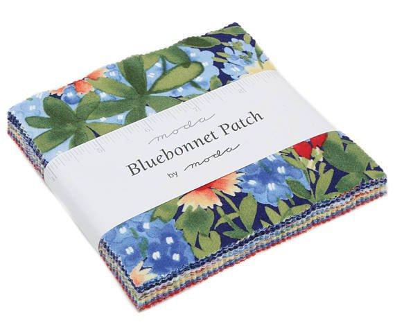 Bluebonnet Patch Charm Squares