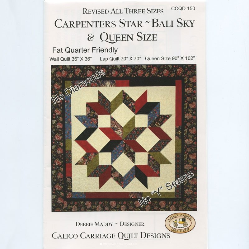 Carpenter's Star - Bali Sky pattern