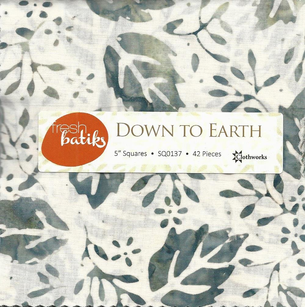 Down to Earth Batik Charm Squares-42 ct