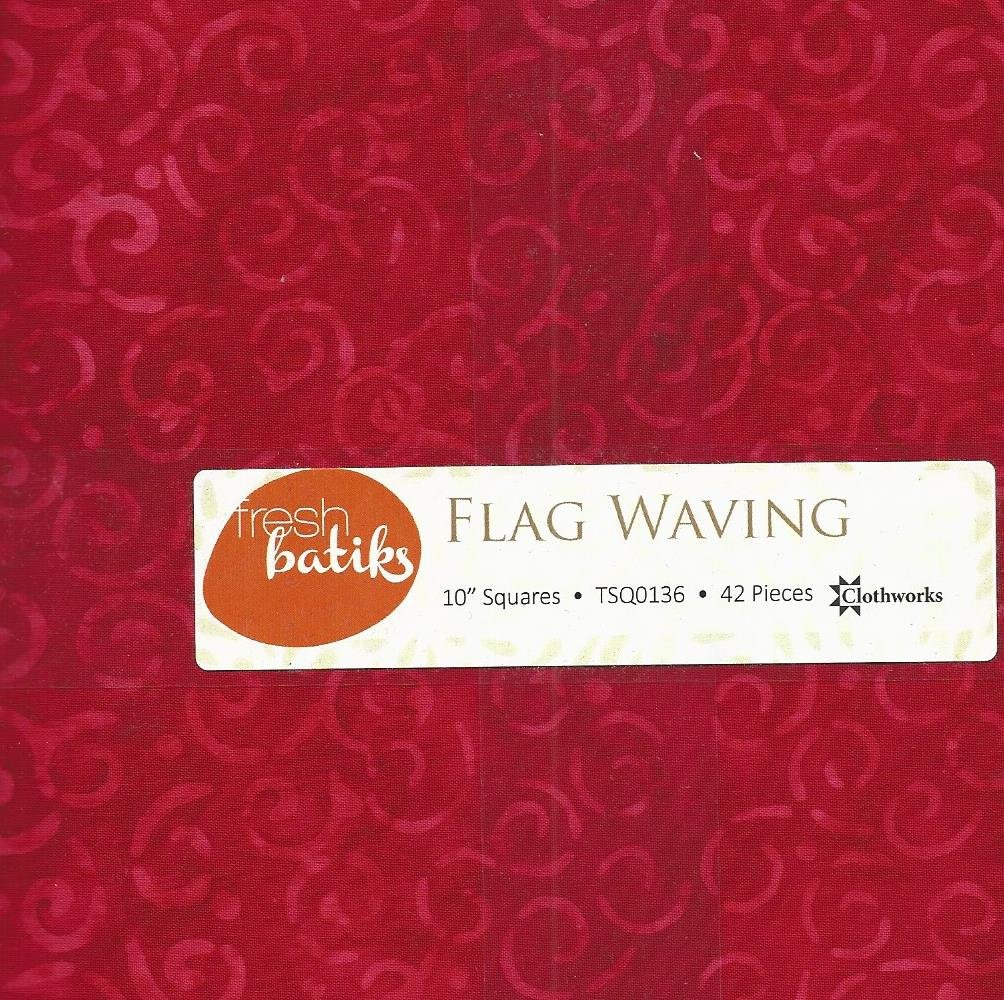 Flag Waving Batiks - Layer Cake -42 ct