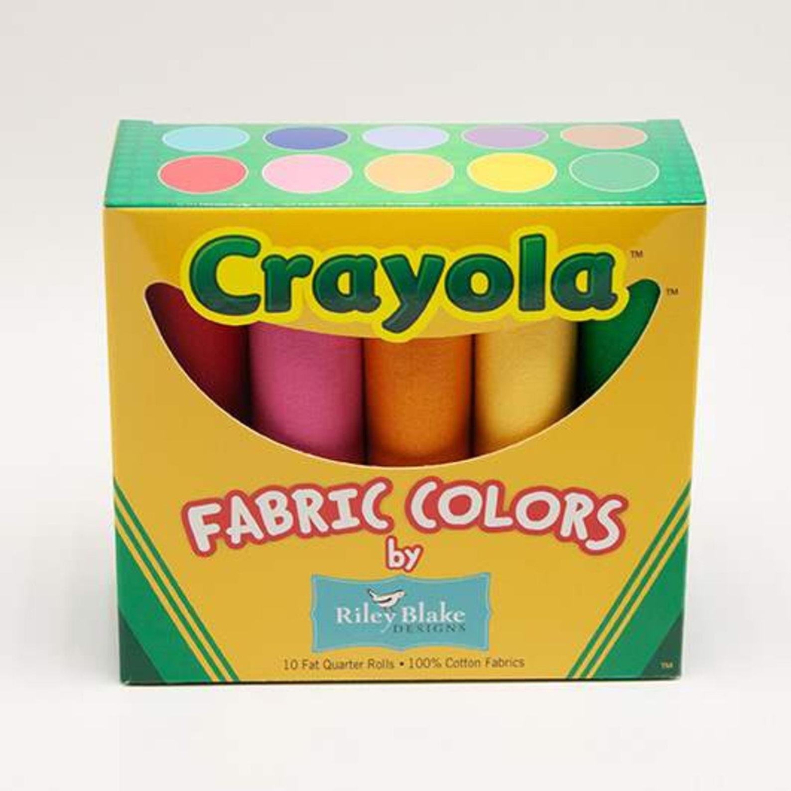 Crayola Fabric Colors-10 fat qtrs-Riley Blake *